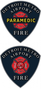 Detroit Metro Airport Fire Department Badges